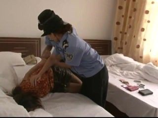 Chinese Girls Handcuffed And Arrested 5