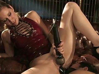 Mistress Playing With Two Slaves To Reach Orgasm