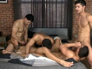 5 Guys, 1 Bed (Part 1) - Dante F, Diego S, Jorge F, Nicco S, Raphael C