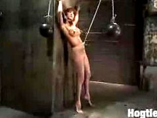 Gia DiMarco is bound and stripped, her nipples tortured. A ...