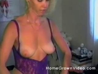 Horny Blonde Fucking Herself With Her Huge Dildo Determined To Cum
