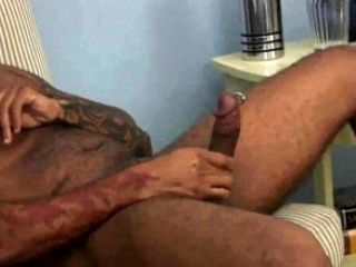 Jerking Off And Cock Pumping Of Great Faggot (2)