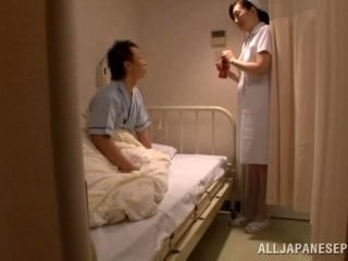 Japanese Nurse Plays With Some Dude's Cock Before Jumping On It