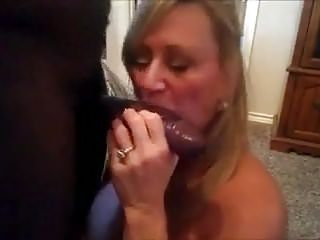 Slutty Blonde Milf Wife Bent Over Fucking A Long Black Cock