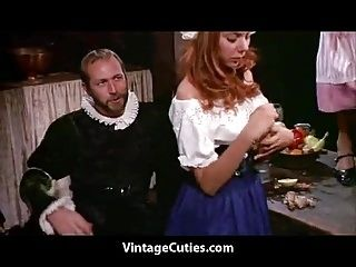 Medieval Feast Turns into an Orgy (1960s Vintage)