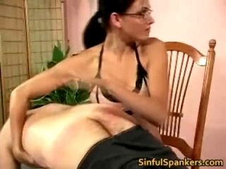 Two hot babes spank this man 1 by SinfulSpankers