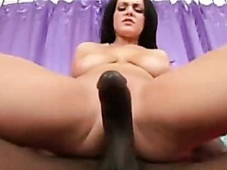 Big titted Natasha Nice gets her pussy hammered by a blackzilla on the couch