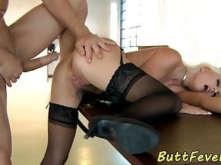 European Beauty Ass Banged In Stockings  (4)