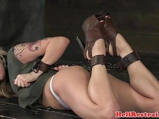 Chained Bdsm Sub Dominated With Butt Plug (3)