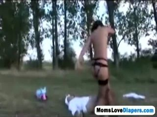 Momslovediapers 3X 6 217 Gloria Sucks Off Adult Baby In A Field Hi 2