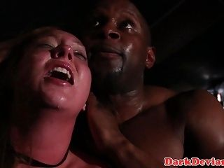 Interracial Slave Bitch Spanked And Drilled
