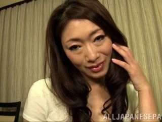 Mature Asian Babe With Long Hair Fingering Her Pussy