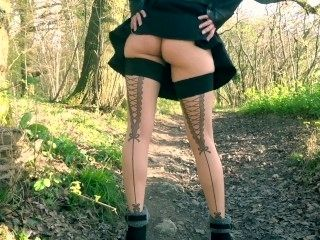 Amateur Wife With Sexy Ass Stripping In The Woods