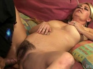 Joclyn Stone gets her hairy pussy licked and fucked by Ron Jeremy
