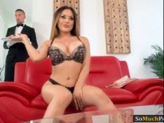 Bitchy trophy wife Kaylani Lei gets fucked by her butler (3)