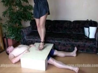Demona Pantyhose Cock Trample