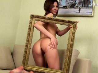 One of the sweetest Russian brunettes showing her natural curves