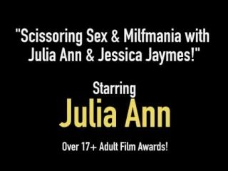 Scissoring Sex & Milfmania with Julia Ann & Jessica Jaymes! (2)