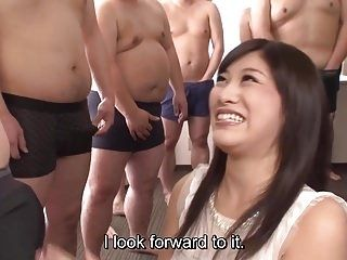 Subtitled CFNM Japanese gokkun party with Miki Sunohara (4)