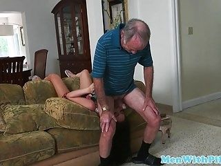 Real Grandpa Rimmed Cocksucked By Escort Teen
