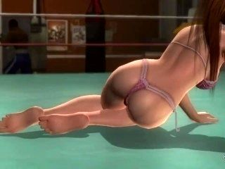 Dead or alive 5 Kasumi in tight micro bikini thong exposes her bubble butt!