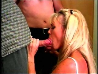 Blonde With Awesome Tits Rides A Dick In A Public Bathroom