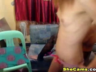 Sexy Shemale Gets Rammed by Her Shemale Partner (9)