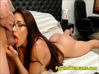 Latina with Glasses Big Booty Live Sex and Blowjob (4)