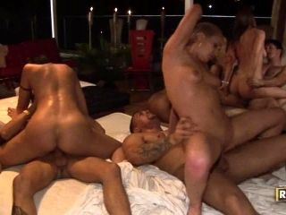 Second Slice of the Sex Spree in Hottest Orgy Interracial!
