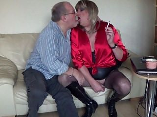 British Transvestite - Red Satin Whore