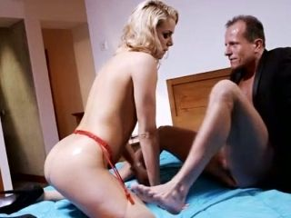 Vivacious Housewife Is Taking Part In A Hot Threesome At Home
