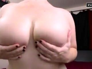 Awesome Punk curvy girl play with her big tits on xvaga.com webcam