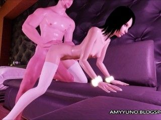 Asian Babe With Small Tits Fucks BF In 3D Virtual Adult Game! (2)