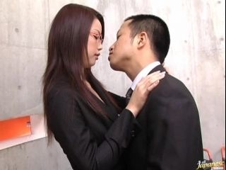 Mega Sexy Risa Kasumi Gives Blowjob and Tit Fuck to her Office Mate