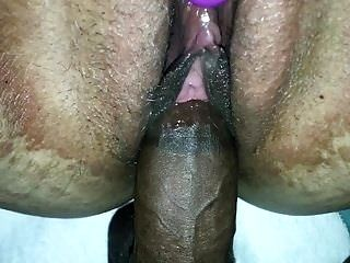 PULSATING ORGASM ON MY DICK HEAD AND HER VIBRATOR