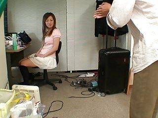 Japanese Babe Gives Guy Her Pink Panties To Sniff (2)