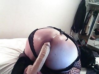 Travo Playing With Hole Hand In There And Huge Dildo Fun