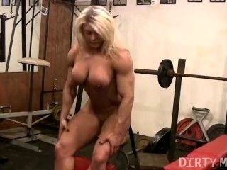 Blonde British Muscle Bombshells Big Clit (2)