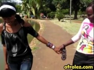 African Lesbians Enjoy Fingering Shaved Pussies