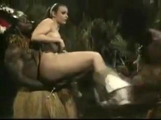 Tribal Threesome with a White gal