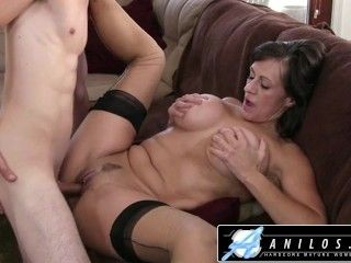 Anilos - Hot Mom Fucks Young Cock & Gets Big Tits Jizzed