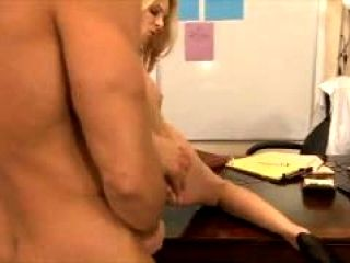 Blonde Cougar Fucks Her Employee