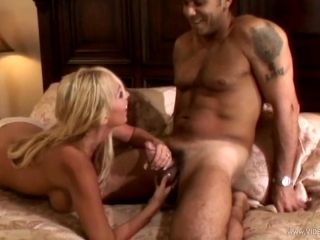 Mary Carey is drilled by a big cock after sucking on it