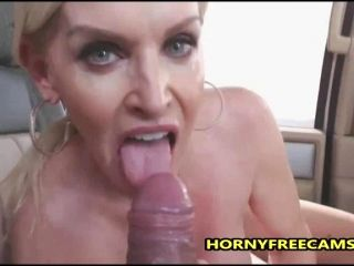 Busty Milf Public Sex And Mouth Full Of Cum In A Car (8)