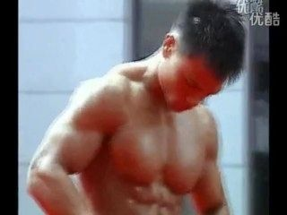 Young Chinese Handsome Bodybuilder