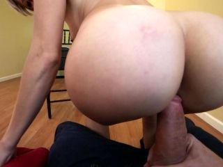 Amateur with short hair spins cock down the pussy in perfect POV