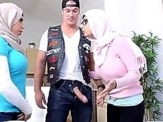 Threesome With Two Arab Brunettes