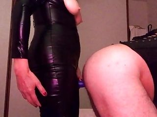 Catsuit And Blue Strapless