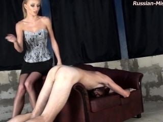 Ass Abusing Mistress Looks Perfect In A Corset And Skirt