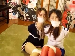 Chinese Girls Tape Tied